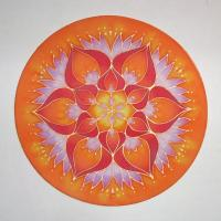 silk window mandala, 30 cm