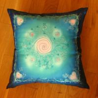 silk pillow, 40x40 cm