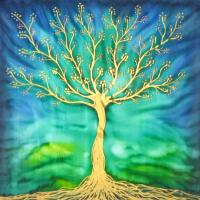Living tree - silk picture